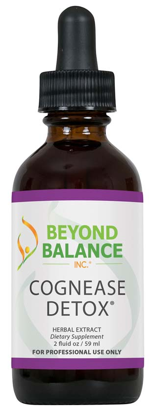Bottle of COGNEASE DETOX® drops from Beyond Balance®