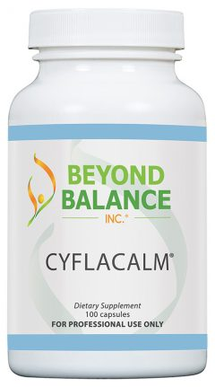 Bottle of CYFLACALM® capsules from Beyond Balance®