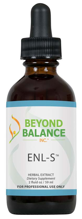 Bottle of ENL-S™ drops from Beyond Balance®