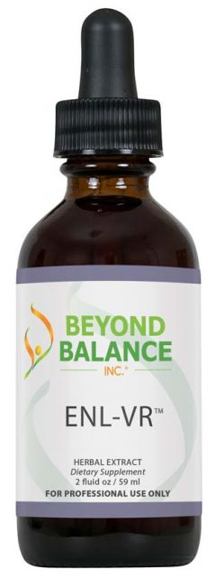 Bottle of ENL-VR™ drops from Beyond Balance®