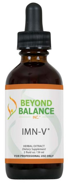 Bottle of IMN-V® drops from Beyond Balance®
