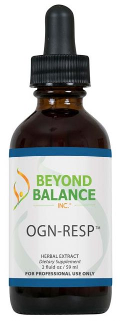 Bottle of OGN-RESP™ drops from Beyond Balance®