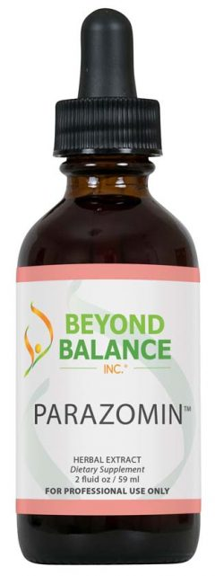 Bottle of PARAZOMIN™ drops from Beyond Balance®
