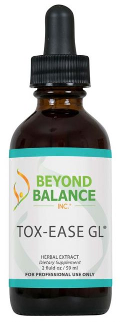 Bottle of TOX-EASE GL® drops from Beyond Balance®