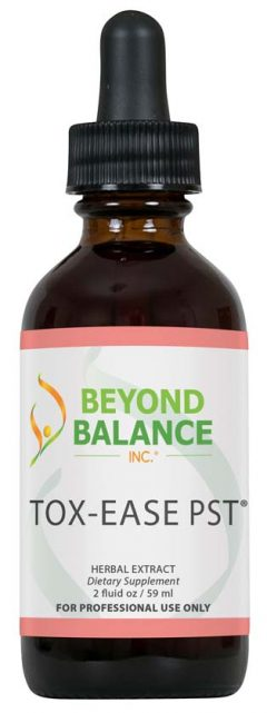 Bottle of TOX-EASE PST® drops from Beyond Balance®