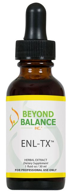 Bottle of ENL-TX™ drops from Beyond Balance®