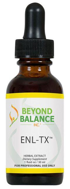 Bottle of ENL-TX™ drops from Beyond Balance®