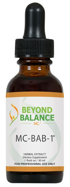 Bottle of MC-BAB-1® drops from Beyond Balance®