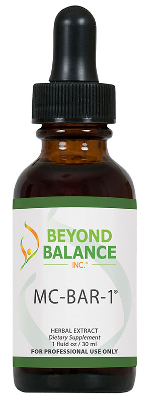 Bottle of MC-BAR-1® drops from Beyond Balance®