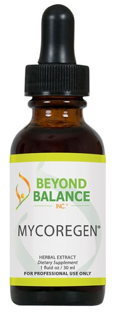 Bottle of MYCOREGEN® drops from Beyond Balance®