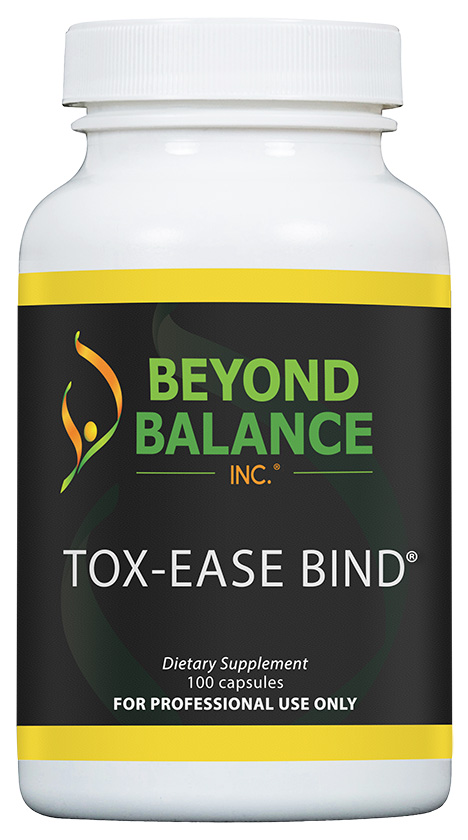 Bottle of TOX-EASE BIND® capsules from Beyond Balance®