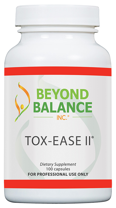 Bottle of TOX-EASE II® capsules from Beyond Balance®