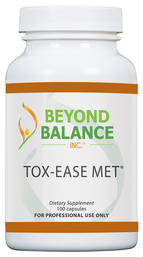 Bottle of TOX-EASE MET® capsules from Beyond Balance®
