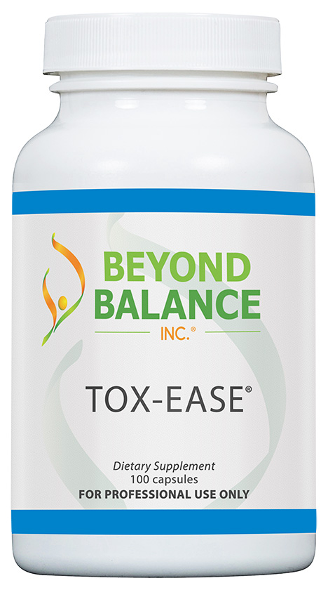 Bottle of TOX-EASE® capsules from Beyond Balance®