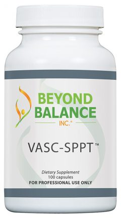 Bottle of VASC-SPPT™ capsules from Beyond Balance®